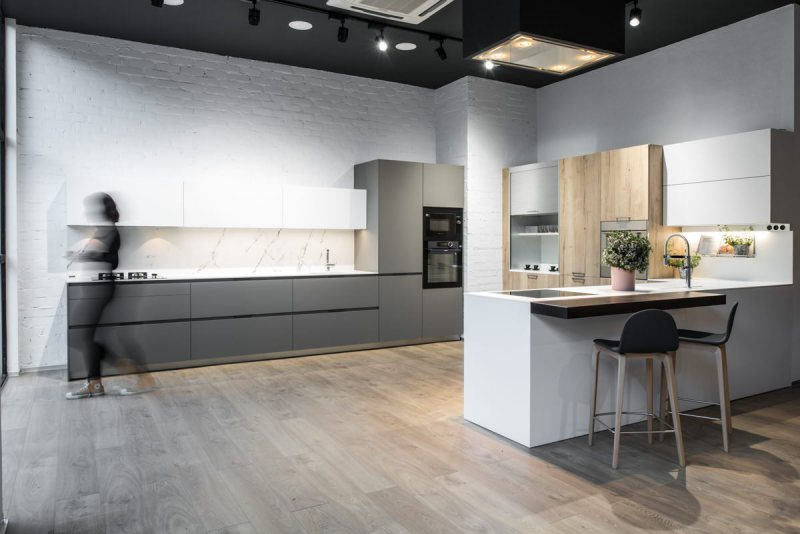 fotos profesionales showroom cocinas santos