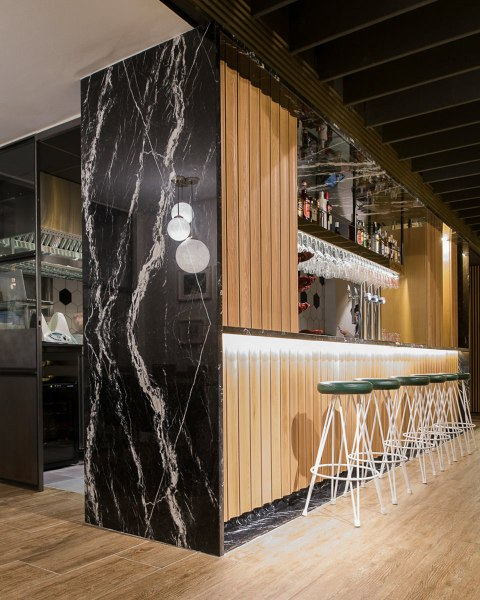 fotografía de espacios interiores restaurante Macorina